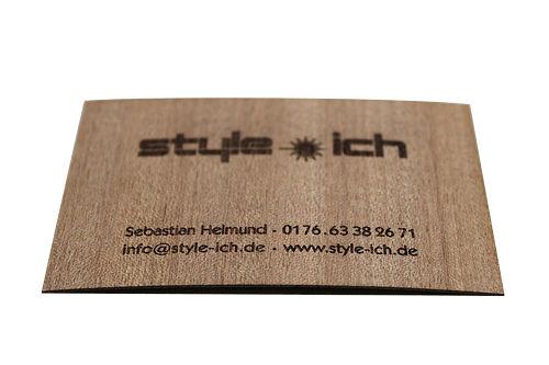 Holz-Visitenkarte