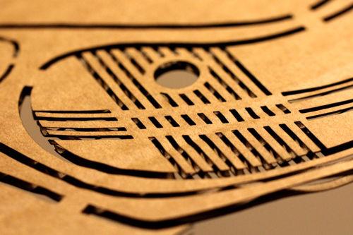 Lasergravur Pappe